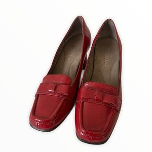 Aerosols red Jacky block heel loafers